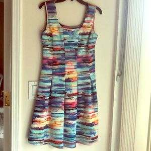 NWT Spense fit and flare watercolor dress